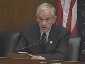 Ron Paul's Opening Statement on Federal Reserve Role and ...