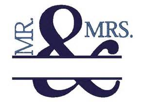 Wedding Mr. and Mrs. Embroidery Designs