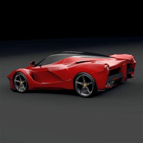 future ferrari models la ferrari concept 2013 restyled 3d model obj 3ds fbx