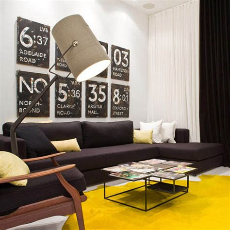Yellow Black And Living Room Ideas by Black White And Yellow Color Combination For Contemporary