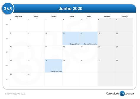 calendario junho