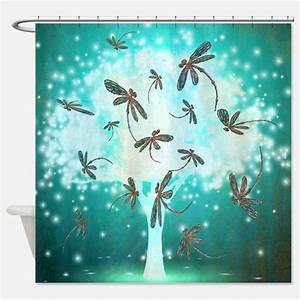 Dragonfly Art Shower Curtains Dragonfly Art Fabric