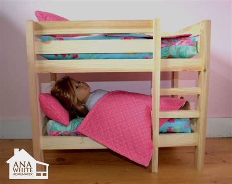 woodworking plans doll bunk beds