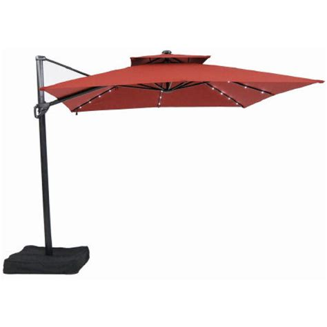 offset umbrella with solar lights cantilever patio umbrellas won t obstruct the view the star
