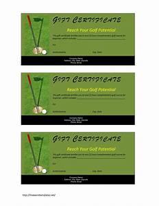 Golf Certificate Template Free Golf Gift Certificate Template