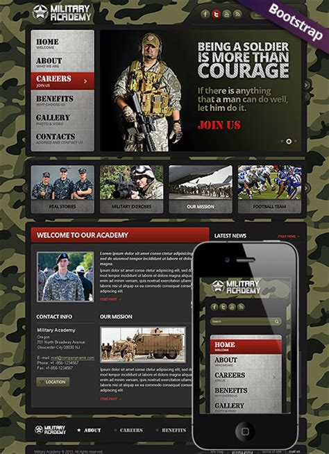 military html website template  website templates