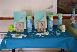 Decoration Pour Bapteme Fille : decoration de table pour un bapteme garcon ~ Mglfilm.com Idées de Décoration