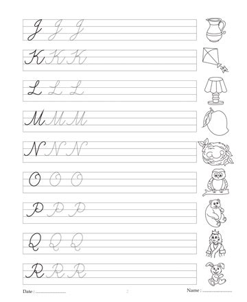 Cursive Writing Book 2 Printable Coloring Worksheet