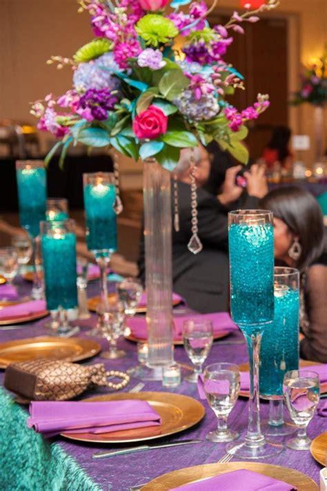 wedding table decoration ideas teal gorgeous purple and teal wedding reception decor wedding wedding reception hyatt