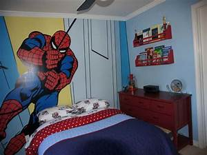 decoration spiderman wall kids bedroom paint ideas kids With childrens bedroom wall painting ideas