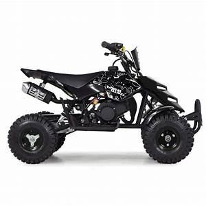 Funbikes 49cc Petrol Black Kids Mini Quad Bike