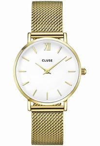 Montre Cluse Histoire D Or : montre minuit mesh gold white cl30010 cluse dor montres and co ~ Nature-et-papiers.com Idées de Décoration