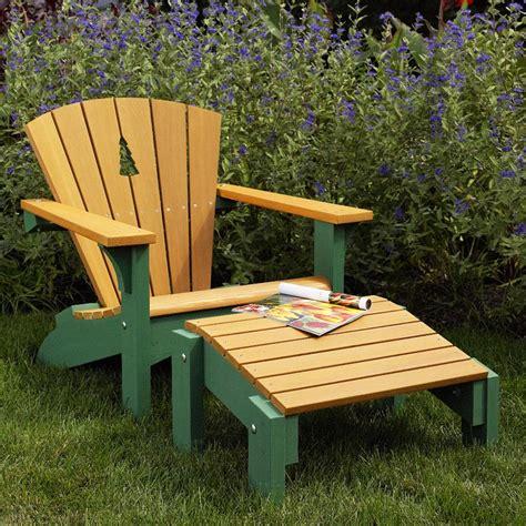 adirondack chair footstool woodworking plan  wood magazine