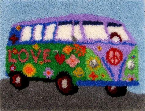 peace van rugmaking kit peace love latch hook latch