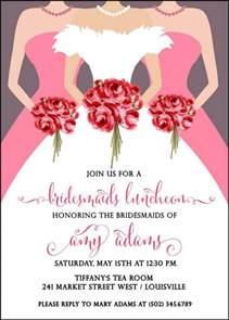 bridesmaids luncheon bridesmaids luncheon invitation bridal brunch invitation wedding dress bridal shower