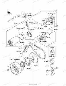 Kawasaki Atv 1998 Oem Parts Diagram For Starter Motor