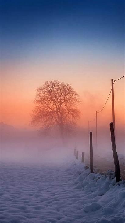 Winter Iphone Scene Wallpapers Fog Glow Plus