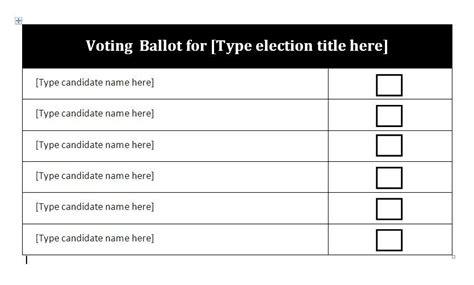 ballot template voting ballot template carisoprodolpharm
