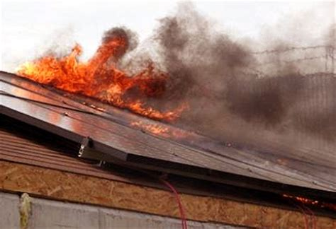 firefighters solar panels    type  trouble