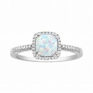 fred meyer jewelers opal and diamond birthstone ring With fred meyers wedding rings