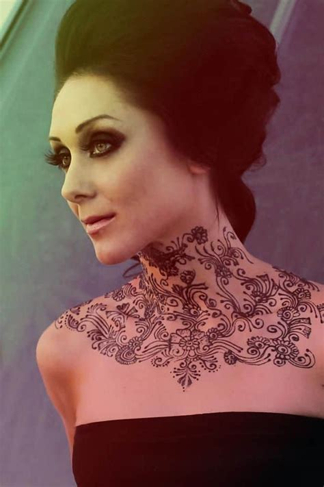 superb neck mehndi designs collection sheideas