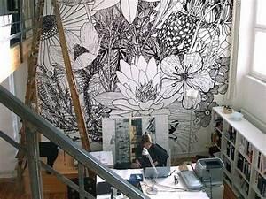Papier Peint Bureau : inspiration d co du papier peint pour un bureau cr atif ~ Melissatoandfro.com Idées de Décoration