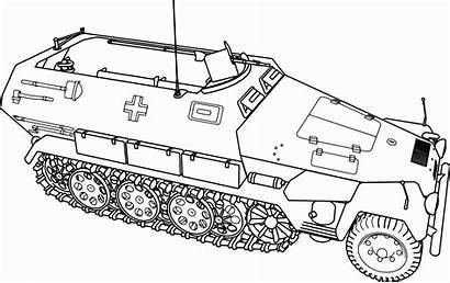 Coloring Army Tank Military Drawing Tanks Vehicles