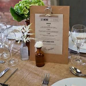 Idee Deco Pour Mariage : id e menu mariage ui59 montrealeast ~ Teatrodelosmanantiales.com Idées de Décoration