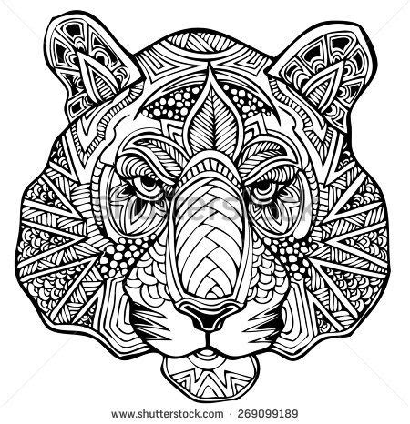 zentangle tiger vector illustration