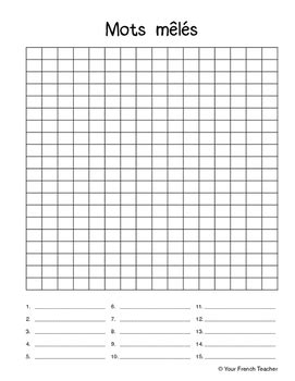 Mots M 234 L 233 S Blank Word Search By Your Tpt