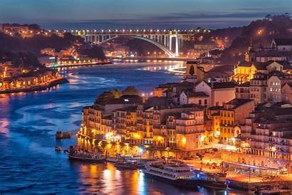 Portugal Landscape Wallpapers Sunset Cities Evening Water