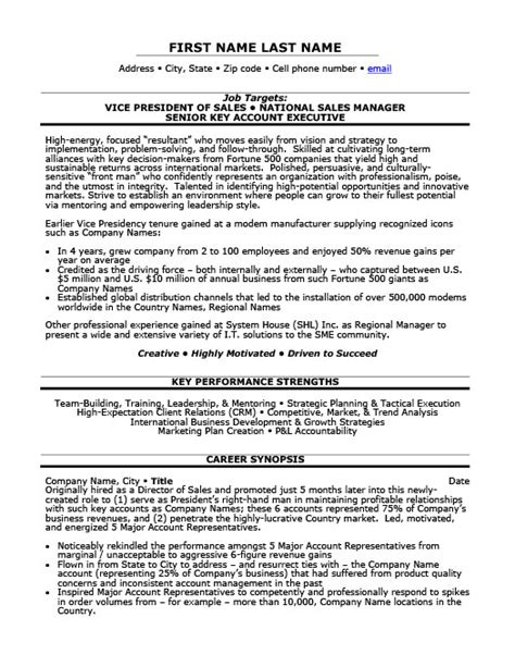 Vp Of Sales Resume by Vice President Of Sales Resume Template Premium Resume Sles Exle