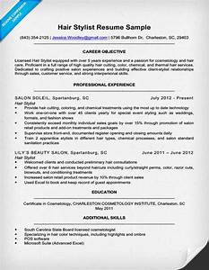 hair stylist resume sample writing tips resume companion With hair stylist resume template free