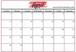 free 5 april 2018 calendar printable template source With calnedar template