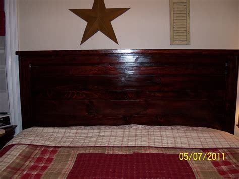 Ana White My First Project Reclaimed Wood Look Headboard