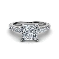 slice engagement ring shared prong princess cut engagement ring