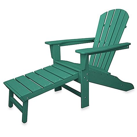 adirondack chair and ottoman buy polywood south beach ultimate adirondack chair with