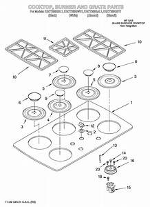 Kitchenaid Kgct366gbl1 Gas Cooktop Parts