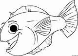 Print Coloring Pages Aquarium Fish Happy Animal sketch template