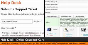 help desk customer service ticket system by dijitals With help desk script template