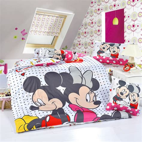 deco chambre minnie mickey and minnie white style2 disney bedding sets