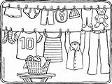Coloring Washing Colouring Kleurplaat Wasdraad Kleurplaten Kleding Kleidung Clothesline Malvorlagen Zum Kiddicolour Ausmalen Malvorlage Fil Drawing Gratis Wasmachine Tekening Colorier sketch template