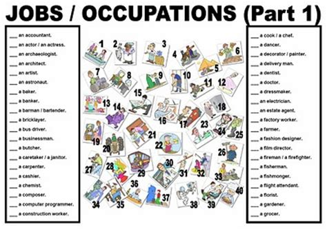 English For 3º Pmar Ocupations