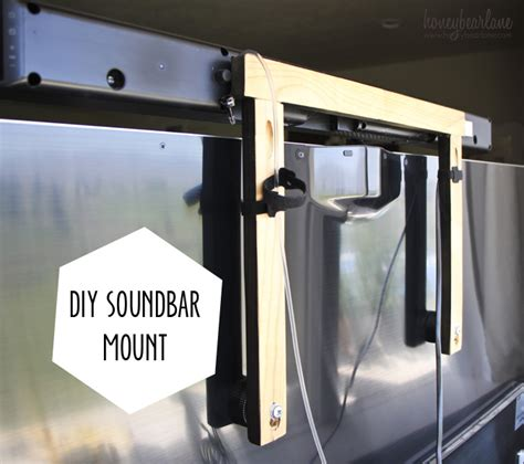 diy soundbar mount honeybear