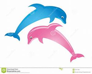 Pink Dolphin Clipart