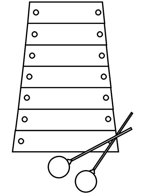 xylophone  coloring pages coloring book