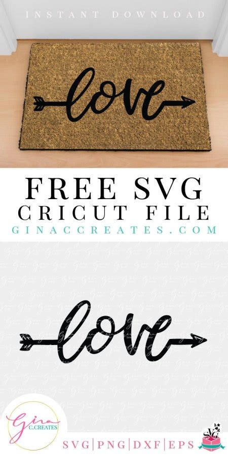 122,005 arrows icons in svg and png: Love Word Arrow Free SVG Cut File - Gina C. Creates
