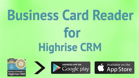 Business Card Reader For Highrise Crm