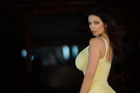 Denise Milani Sexy Brunette Big Tits Big Boobs Big Breast Perfect Gir Model Busty Babe HD Wallpaper