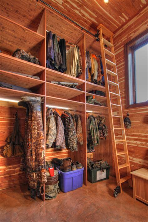 closet in garage addition rustic closet st